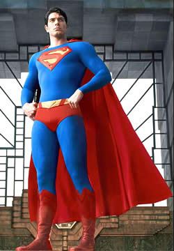 Brandon Routh makes a halfway decent Superman after all.