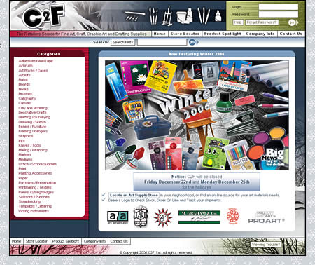 C2F Web Site Winter 2006 Theme