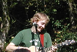 Adam Smouse leading worship at Evangel Family Camp 2004